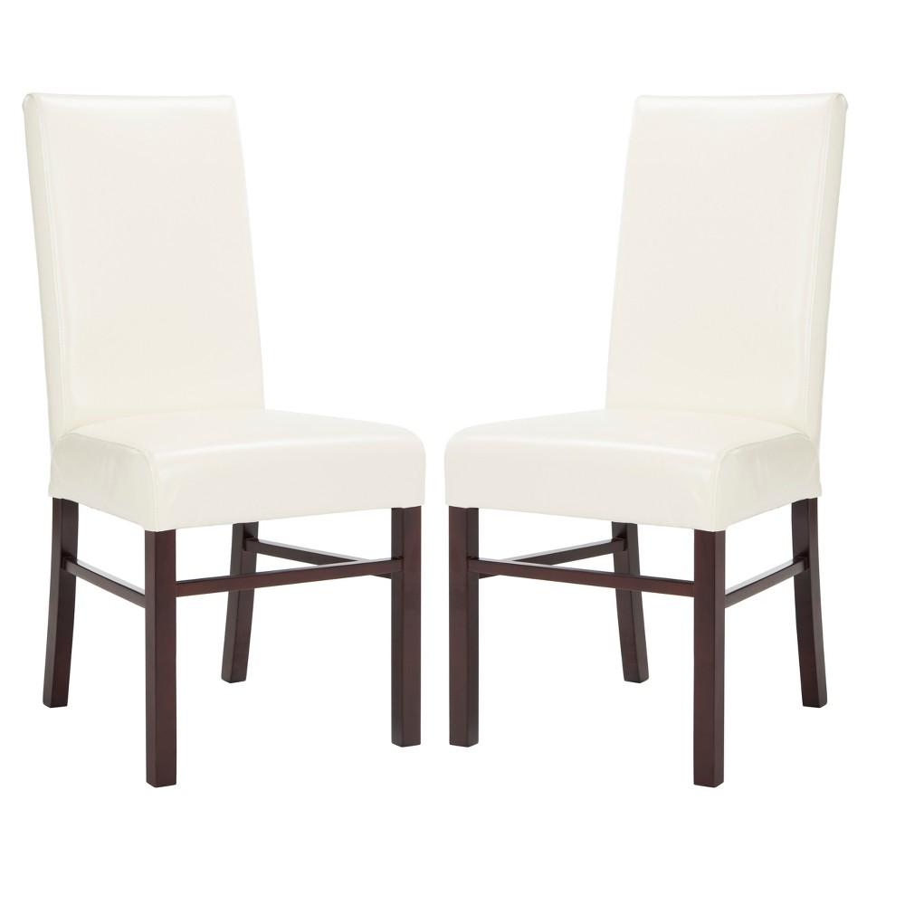Set of 2 Dining Chairs Cream (Ivory) - Safavieh