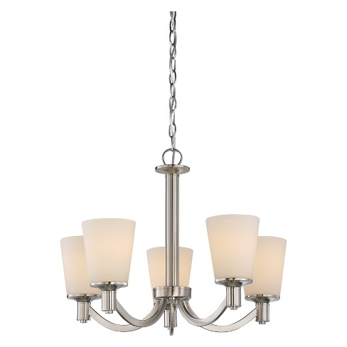 Aurora Lighting 5 Light Chandelier Brushed Nickel - image 1 of 1