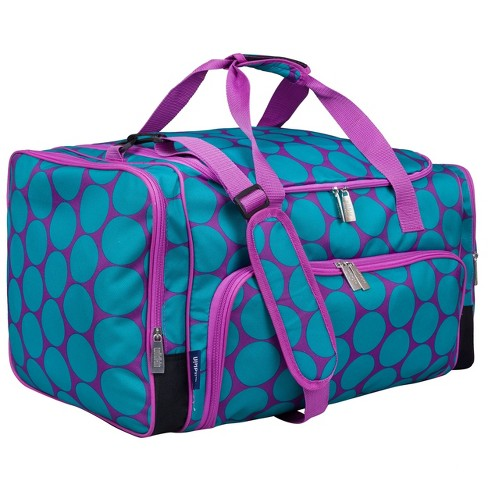 Big Dot Aqua Weekender Duffel Bag - image 1 of 4