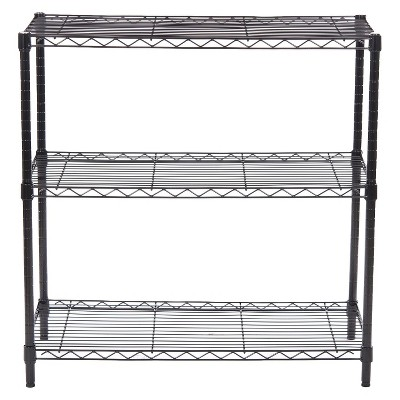Adjustable 3-Tier Wide Wire Shelving - Black - Room Essentials™