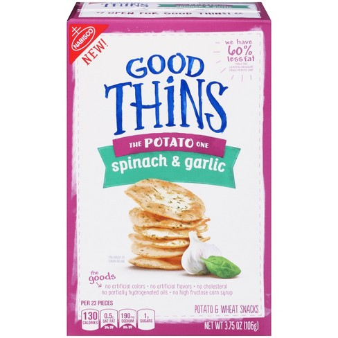 Good Thins The Potato One Spinach & Garlic Crackers - 3.8oz - image 1 of 5