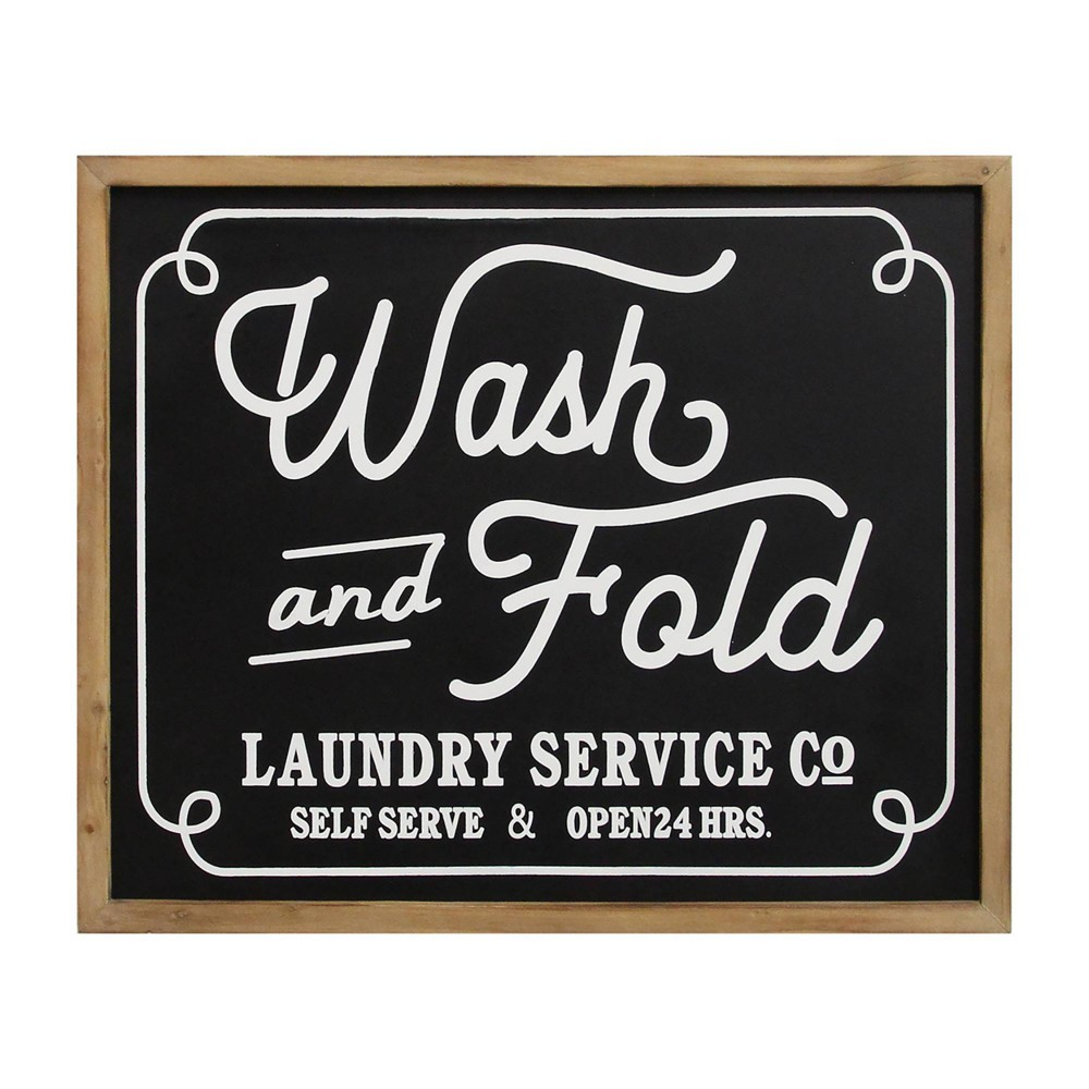 Wash and Fold Laundry Sign Wall Decor Black - Stratton Home Decor Wash and Fold Laundry Sign Wall Decor Black - Stratton Home Decor Gender: unisex.