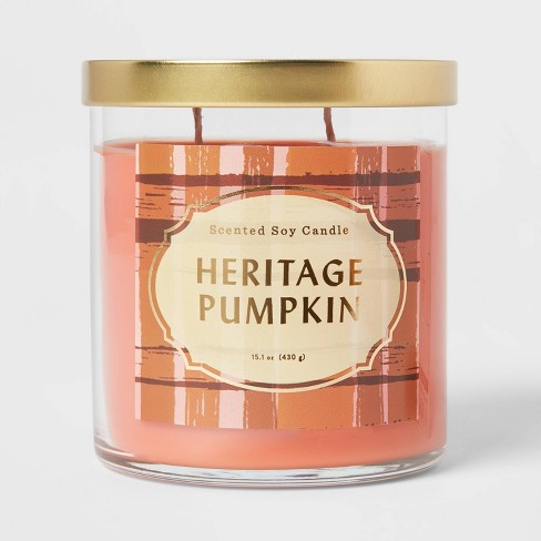Lidded Glass Jar Heritage Pumpkin Candle - Opalhouse™ - image 1 of 3