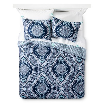 Blue Akina Comforter Set (Queen)- Mudhut™