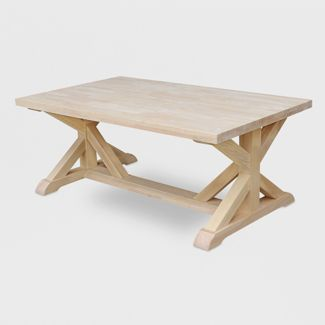 Sierra Coffee Table Unfinished - International Concepts