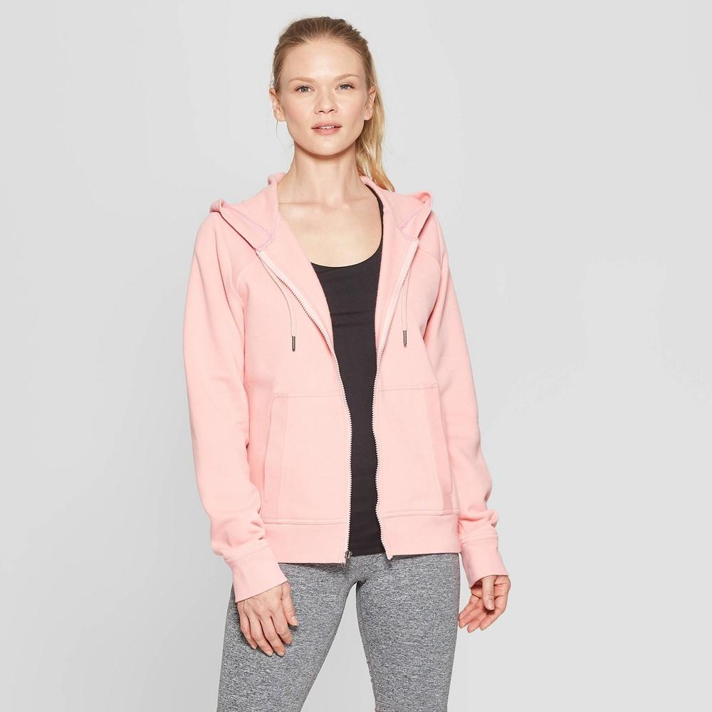Women's Authentic Fleece Sweatshirt Full Zip - C9 Champion Coral (Pink) XL