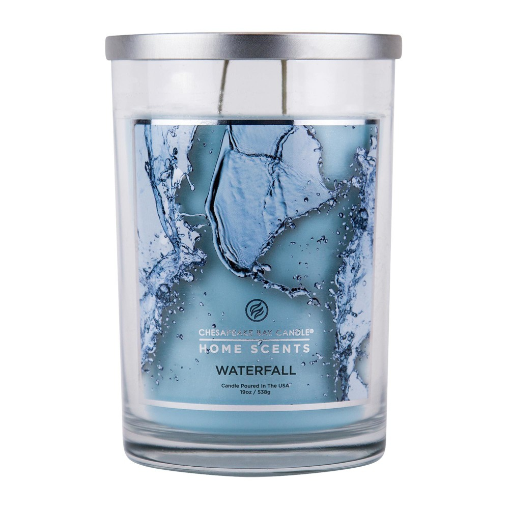 Image of 19oz Glass Jar Candle Waterfall - Home Scents by Chesapeake Bay Candles
