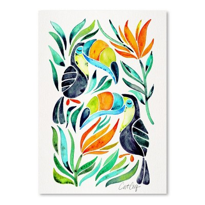 Americanflat Toucans by Cat Coquillette Poster
