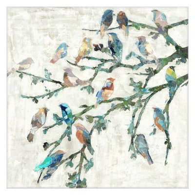 """24"""" x 24"""" Wings of Spring I by Dixon Design Group Wrapped Unframed Wall Art Canvas Painting - Fine Art Canvas"""
