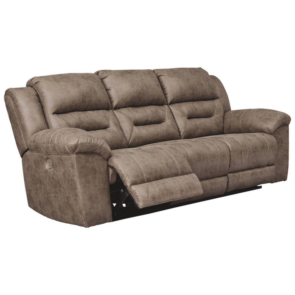 Stoneland Power Reclining Sofa Fossil Brown - Signature Design by Ashley