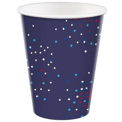 10ct 12oz Cup Confetti Stars on Navy - Sun Squad™
