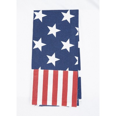 C&F Home Stars and Stripes July 4th Woven Cotton Kitchen Towel
