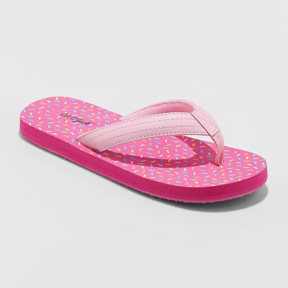 Image of Girls' Aracely Flip Flop Sandals - Cat & Jack Pink XL(6)