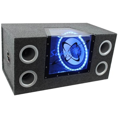 "PYRAMID BNPS122 12""1200W Car Audio Sub Box Subwoofer Bandpass Box Subs"