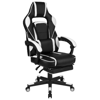 Flash Furniture X40 Gaming Chair Racing Ergonomic Computer Chair with Fully Reclining Back/Arms, Slide-Out Footrest, Massaging Lumbar