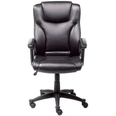 Executive Chair Black Leather - Serta