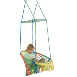 Adjustable Straps HearthSong/® Easy-Go Portable Outdoor Tree Sling Swing Yellow 21 L x 11 W