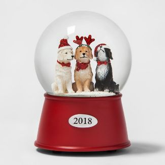Snow Globe Dogs Red Base - Wondershop™