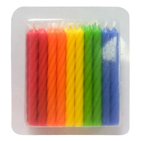 20ct Classic Colors Birthday Candles Spritz Target