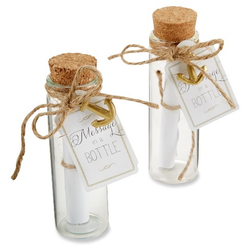 12ct Message in a Bottle Glass Favor - image 1 of 2