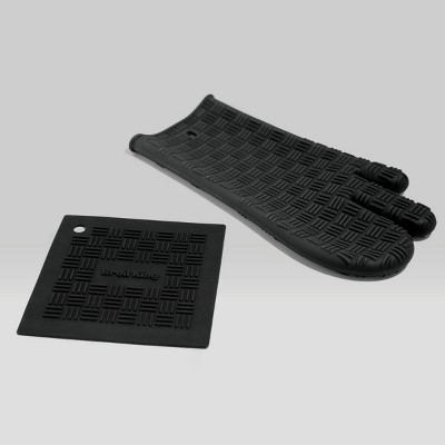 Broil King Silicone Glove with Trivet Black