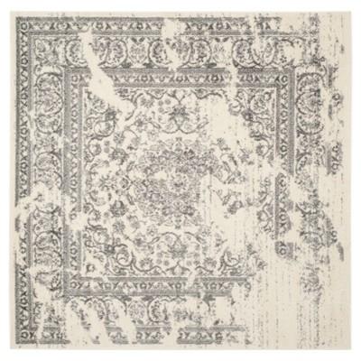 Addaneye Area Rug - Ivory/Silver (6'x6')- Safavieh