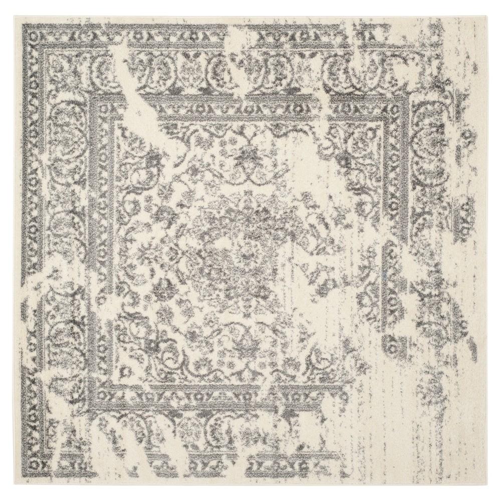 Addaneye Area Rug - Ivory/Silver (10'x10') - Safavieh