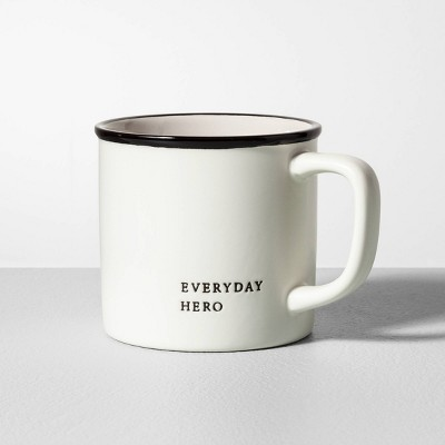 16oz Stoneware Mug Everyday Hero Cream - Hearth & Hand™ with Magnolia