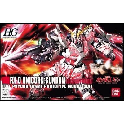 Bandai Hobby HGUC #100 RX-0 Unicorn Gundam (Destroy Mode) HG 1/144 Model Kit