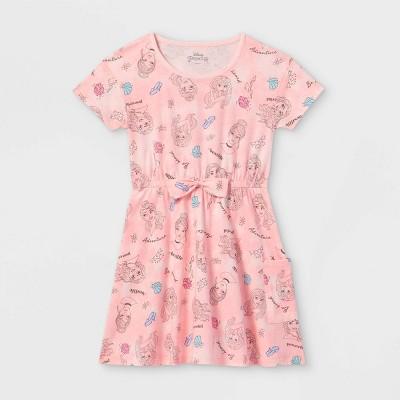 Girls' Disney Princess Royally Fierce Dress - Pink
