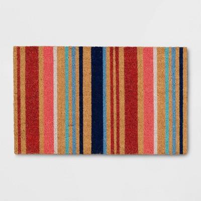"1'6""x2'6"" Summer Striped Doormat Natural - Opalhouse™"