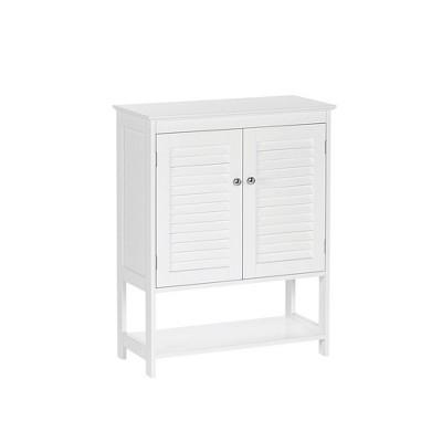 Ellsworth Two Door Floor Cabinet with Open Shelf White - RiverRidge Home