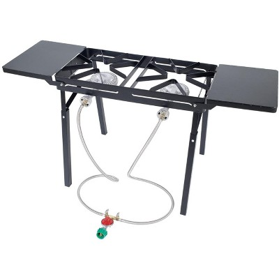 Bayou Classic  Black Outdoor Stove With Dual Low Pressure Gas Burners DB375
