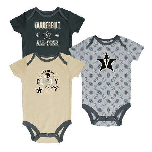 Vanderbilt Commodores Baby Boy Short Sleeve 3pk Bodysuit - image 1 of 4