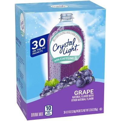 Crystal Light On the Go Grape Water Enhancer - 30pk/0.11oz Packets