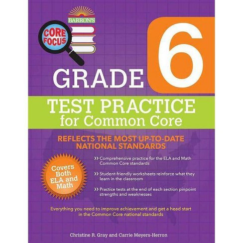 Barron's Core Focus Grade 6: Test Practice for Common Core - by  Christine R Gray & Carrie Meyers - image 1 of 1