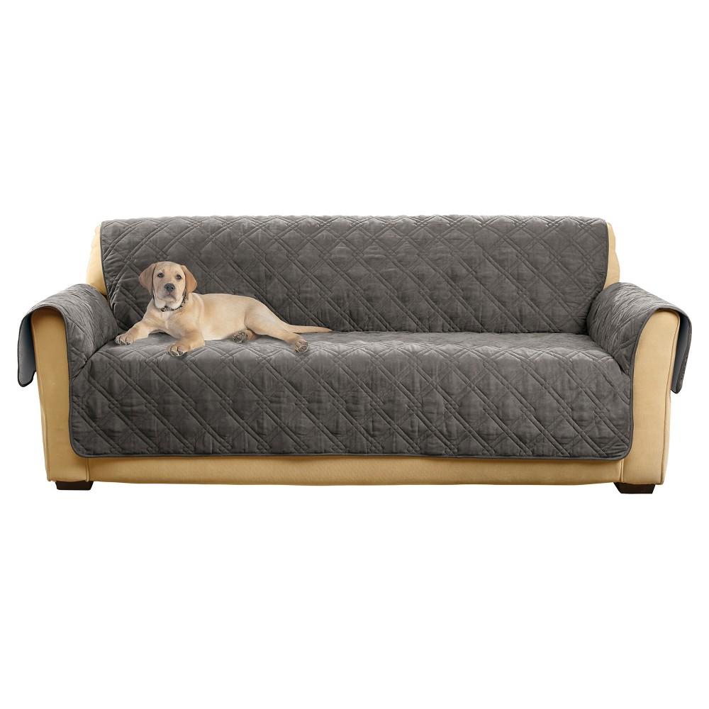 Gray Non-Slip/Waterproof Sofa Furniture Cover - Sure Fit