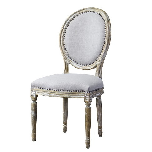 Clairette Wood Traditional French Accent Chair Beige - Baxton Studio - image 1 of 4