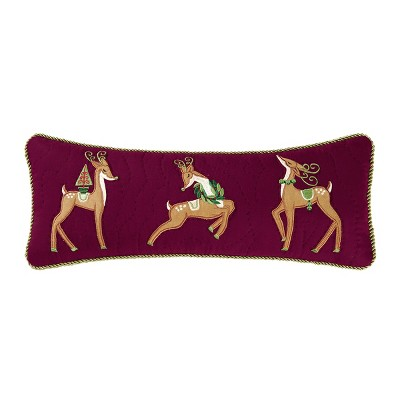 """C&F Home 8"""" x 20"""" Bright Deer Quilted Pillow"""