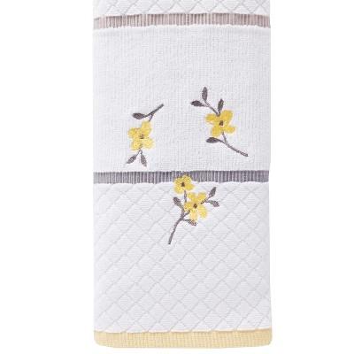 Spring Garden Hand Towel White - Saturday Knight Ltd.