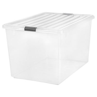 IRIS 132qtPlastic Storage Bin Clear
