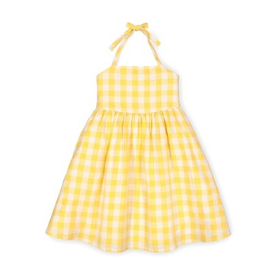 Hope & Henry Girls' Woven Halter Flare Dress, Kids