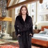 Silver Lilly - Women's Full Length Plush Luxury Bathrobe - image 2 of 4