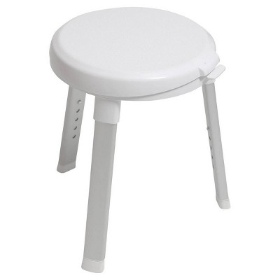 Deluxe Rotating Bath Stool White - evekare