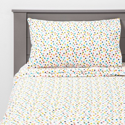 3pc Twin Confetti Cool Cotton Sheet Set Turquoise - Pillowfort™