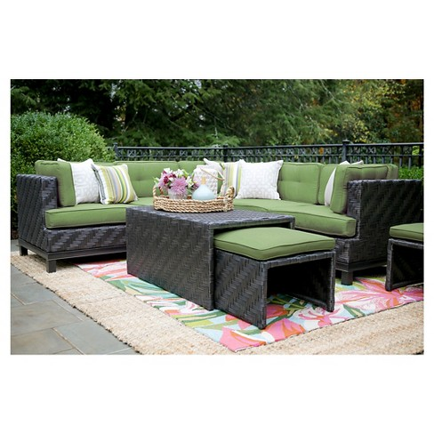 Rachel 8-Piece Sectional with Sunbrella Fabric Spectrum - Cilantro - image 1 of 4