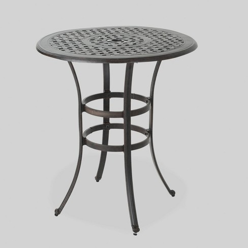 Alfresco Round Cast Aluminum Patio Bar Table - Bronze - Christopher Knight Home - image 1 of 4