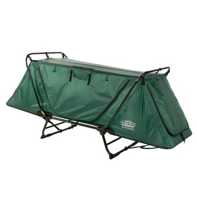 Kamp-Rite Original Portable Cot, Versatile Design Converts into Cot, Chair, or Tent w/ Easy Setup, Waterproof Rainfly & Carry Bag Included, Green