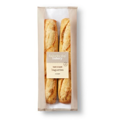 Take And Bake Baguettes - 14oz/2ct - Favorite Day™