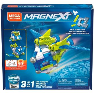 Mega Construx Magnext 3-in-1 Mag-rockets Magnetic Construction Toy